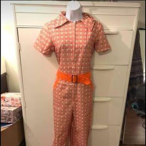 Pants - Vintage handmade zip up jumpsuit